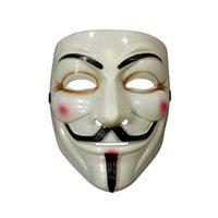 Terror de miedo Halloween Disfraz de Halloween Mascarillas Películas Payaso Killer V para VENDETTA Mascarilla Fawkes Anonymous Props Cosplay Fiesta Fancy Dress Ball Facemask Headwear G84C3DB