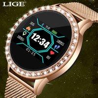 Designer orologi di lusso di lusso orologi da donna impermeabile intelligente con monitor della frequenza cardiaca Braccialetto di fitness per iPhone ios Android ES