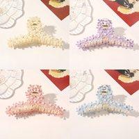 작은 데이지 꽃 진주 머리 발톱 턱 클립 패션 액세서리 머리 털의 뒷면 뒤쪽 머리 홀더 머리핀 모양 소녀 여름 플라스틱 귀여운 6 3qr y2