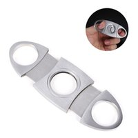 Stainless Steel Cigar Cutter Knife Portable Small Manual Double Blades Cigars Scissors Metal Cut Devices Tools Smoking Accessories