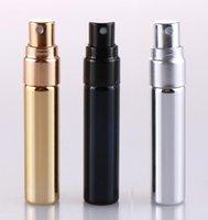 200 pz 5ml UV oro argento nero abtomizer atomizzatore vuoto bottiglia di viaggio parfum donne tasca spray riutilizzabile bottiglie di vetro ricaricabile di alta qualità