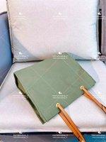 الأخضر قماش sshoulder أكياس مصمم أزياء السيدات الكلاسيكية حقيبة تسوق حزام جلد عارضة شاطئ حمل مع حجم كبير