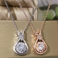 Pendant Necklaces PITUTU Arrival Women's Ring Creative Zircon Star Drop Necklace Japanese And Korean Simple Ladies Clavicle Wholesale