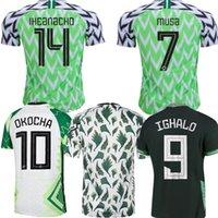 Mundo Copa National Soccer Jersey 20 21 Maillot de Foot Okechukwu Oglo Okocha Ahmed Musa Ndidi Mikel Iheanacho Homens Kit Football Shirts