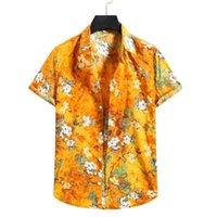 Men's Casual Shirts 2021 Arrival Fashoin Printed Button Up For Men Clothing Daily Short Sleeve Lapels Summer Hawaiian Shirt