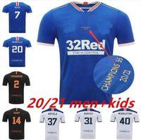 Glasgow Rangers Champions 55 Version Fussball Trikots 2021 Defoe Morelos Kent Aribo Arfield 20/21 Männer Frauen Kinder Kits Top Football Jersey