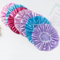 الحرير الحرير الدانتيل المرأة ماكياج حمام دش قبعة حريري الاستحمام القبعات nightcap الشعر سيارة bunners جميل للمنزل الجمال قبعات للماء G38XXS7