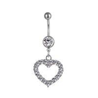 D0045 (4 colores) Estilo de corazón Anillos de ombligo Botón de vientre Piercing de la joyería Piercing Accesorios Moda encantos (10pcs / lot) JFB-3245