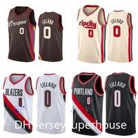 Homens Basketball Portlandtrailcity 0 Damien Lillard Vermelho Branco 2020-21 Cidade Sleeveless Jersey e Shorts