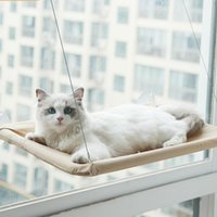 Cat Beds & Furniture Hammock Hanging Comfortable Sunny Seat Window Mount Pet Bed For Cats Supplies Detachable Bearing 15kg