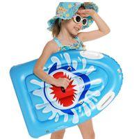 الصيف pvc نفخ تعويم السرير قابلة للطي عالية الكثافة أزهار أطفال خفيفة السباحة سباحة حصيرة آمنة الهواء فراش للسباحة الممارسة