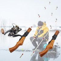 Boat Fishing Rods 54cm 74cm 2 Tips Ice Rod Reel Combos Portable Winter Spinning Carbon Fiber Pole Support