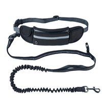 Training Hand Free Dogs Leashes Retractable Running Waist Bag Dog Leash Reflective Adjustable Large Rope Harness Accessories