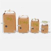 Рисовая бумага сумка чайная упаковка картонная бумага сумка свадьбы крафт бумажные пакеты пищевые хранения стоя упаковочные пакеты lx0043
