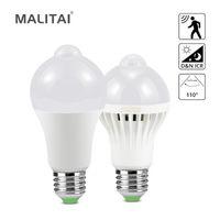 Bulbos SMART E27 LED Lámpara LEDS Bombilla Movimiento Sensor Luz 220V Emisión de luz Diodo Chandelier Decoraciones de Navidad para el hogar