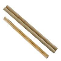 Tazze di bambù monouso paglia per bevande in lacca a bocca inclinata piatta e latte non cera il caffè del tè del latte 2114 V2