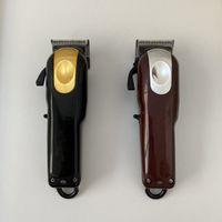 8148 ماجيك كليب المعادن الشعر المقص الكهربائية الحلاقة الرجال الصلب رئيس ماكينة حلاقة المتقلب الأسود الذهب الأحمر 2 اللون