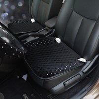 Car Seat Covers Winter Plush Flower Universal Cover Mat Diamond Cushion Front Back Protector Accessories For Women Girls