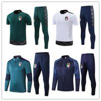 2021 Italien Kurzarm Polo Jersey Fussball Training Anzug Surveetement 20 21 De Rossi Football Shirt Set Bonucci Trainingsanzug