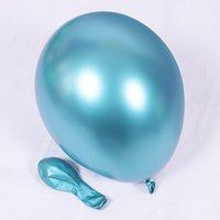 2020 새로운 5 인치 광택 금속 펄 라텍스 풍선 두꺼운 크롬 금속 색 풍선 공기 공 Globos 생일 / 파티 장식 216 v2