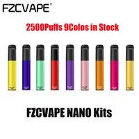 Authentic FZCVAPE NANO Disposable E-cigarettes Pod Device Kit 2500 Puffs 1000mAh Battery 6ml Prefilled Pods Cartridges Stick Vape Pen Vs XXl Max Plus ELF Bar Lux