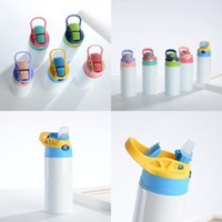 12oz 350ml Sublimation Stainless Steel Blanks cups Children lnsulated Sippy water bottle Steel Sublimation Tumblers Tumbler Kid Mug