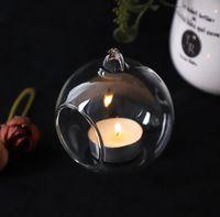 New60mm 교수형 Tealight 홀더 유리 글로브 Terrarium 웨딩 캔들 홀더 촛대 꽃병 홈 호텔 바 장식 EWA6487