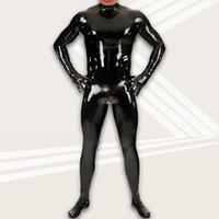 Látex amoniaco cuerpo forma ropa divertida footman sexy escenario vestido b02 espejo cuero brillante todo incluido cuerpo