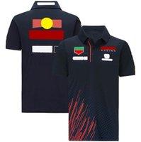 2021 F1 Formula Bir Takım Logosu Özel Kısa Kollu Yaz Yaka Polo Gömlek Yarış Takım Elbise Araba Fan Çalışması Çabuk Kuruyan Nefes Üst