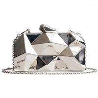 Clearance Clutch Bag Women Fashion Mini Argyle Small Gold Evening Party Clutches Purse Shoulder Female LSHN