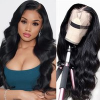 26inch Body Waveront Lace Wig Real Human Hair13x4 HD Lace Front Wig Pre-plugging Baby Hair Brazilian Real Human Hair Wig 150% Density Natural Black