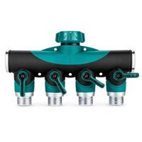 Metal One-Way Four-Valve Water Distribution Controller Garden Lawn Watering Faucet Connector Water Pipe Shunt