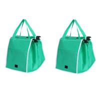 Storage Bags 2pcs set Eco-Friendly Foldable Reusable Shop Handbag Supermarket Thicken Trolley Shopping Cart Totes Portable Grocery Store