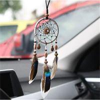 8 Designs Vintage Handgemachtes Dreamcatcher Netz mit Feder Anhänger Auto hängen Home Dekoration Ornament Kunst Handwerk Geschenke 360 V2