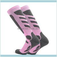 Outdoor As Sports & Outdoorslixada 2Pairs Womens Professional Socks Thick Knit Winter Athletic Stockings Breathable Ski Marathon Anti-Skid W