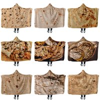 Creative Mexican Tortilla Hooded blanket Soft Warm Children Blanket with Hood Sherpa Fleece Snuggle wearable yxy0159
