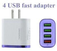 Adaptador de potência rápido carregador USB 4USB Portas Adaptive Wall Carregadores QC3.0 Carregamento Rápido Viagem Universal UE EUA Plug OPP Pack Top Quality