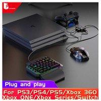Tangentbord Musadapter för omkopplare PS5 PS4 Xbox PS3 Drive-Free Använd direkt Controller Video Game Console Joystick Converter H0906