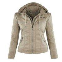 Women's Leather & Faux Jacket Women 2021 Basic Coat Female Winter Motorcycle Suede PU Zipper Hoodies Outerwear