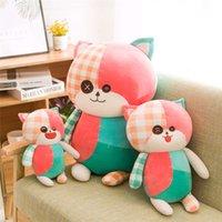 Puppen kreativ nette patch plüsch spielzeug bettel katze puppe groß kissen weibliche geschenk