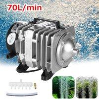 Luftpumpen Zubehör 45W 220V 70L / min Elektromagnetische Kompressorpumpe ACO-318 Sauerstoff Aquarium Fischteich Hydroponic Belüfter