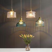 Pendant Lamps Nordic Modern Minimalist Copper Glass Lights For Living Dining Room Decor Kitchen Bedroom Bedside Bar Store Cafe Studio