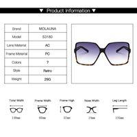 Luxury designer Sunglasses 2021 Oversize Square Women Vintage Brand Big Frame Sun Glasses Fashion Gradient Female Oculos 0622