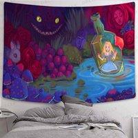 태피스트리 Boho 장식 버섯 숲 태피스 트리 동화 예술 벽 매달려 인도 홈 미학 룸 벽화