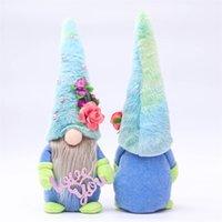 15st / dhl tecknad blå hatt Rudolph ansiktslös docka mors dag present plysch dockor älskar dig mamma plushed dvärg plysch gnome party prydnad g32mo9f