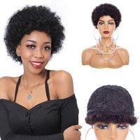 Женские короткие афро странные кудрявые волосы черные парики для женщин большие надувные и мягкие натуральные 98% синтетические