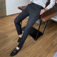 جديد جودة عالية الرجال عارضة السراويل رجل الأعمال اللباس سليم عداء ببطء طويلة بنطلون طويل دعوى السراويل الجديدة الرجال مستقيم loo dff2207