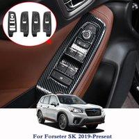 Для Forester SK 2021 автомобиль укладка автомобиля внутренняя дверная дверная подъемник подъемник выключатель блесток украшения наклейка авто интерьерная рамка Другие аксессуары