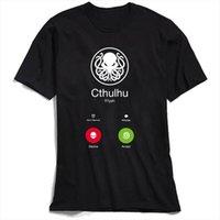 Chulhu 참신 망 티셔츠 디자이너의 부름 100 % 코튼 재미 있은 여름 괴짜 탑스 스윙 펑크 낙지 티셔츠