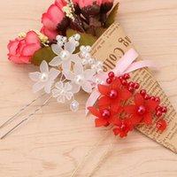 Hair Clips & Barrettes Wedding Bride Rhinestone Flower Pearl Pins Clip Head Hairpin Accessories